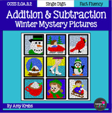 BUNDLED - Winter Addition and Subtraction Mystery Pictures
