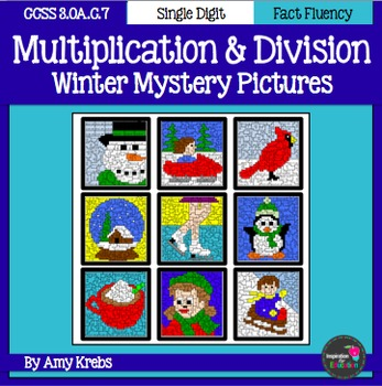 BUNDLED - Winter Multiplication and Division Mystery Pictures