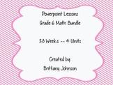 BUNDLED!! Year of Power Points Math Grade 6