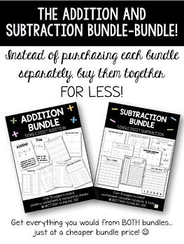 BUNDLED addition bundle and subtraction bundle!