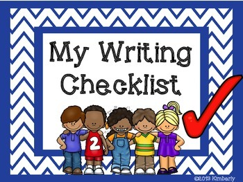 {BUNDLE} My Writing Checklist Posters/Rubric (Chevron in 8 Colors)
