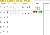 BUNDLES OF - introduction to multiplication