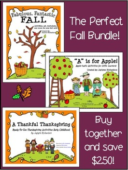 The Perfect Fall Bundle: Includes my APPLES, FALL, and THANKSGIVING Units!