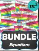 BUNDLE_Equations➡DIGITAL NOTES + QUIZZES