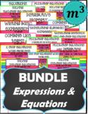 BUNDLE_Expressions & Equations DIGITAL NOTES + QUIZZES