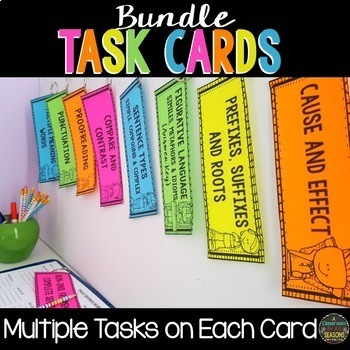Task Cards: English Language Arts Bundle
