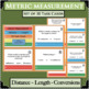 BUNDLE Customary Metric Measurement Length Distance Conversions 60 Task Cards