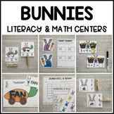 BUNNIES Literacy & Math Centers for Spring (Preschool, PreK, Kindergarten)