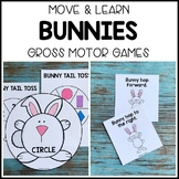 BUNNIES Move & Learn Gross Motor Games - Preschool, Pre-K,