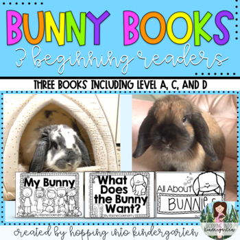 BUNNY Bundle - 3 Guided Reading books levels A-E with activities