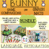 BUNNY & CARROT, BUNDLE-GAME COMPANIONS OR SMASH MATS (SPEECH LANGUAGE THERAPY)