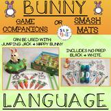 BUNNY & CARROT LANGUAGE - GAME COMPANIONS OR SMASH MATS