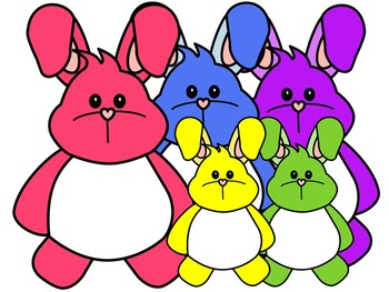 BUNNY CLIP ART * COLOR AND BLACK AND WHITE