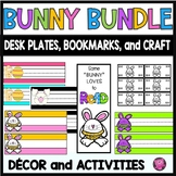 Easter Bunny Activities Bookmarks Crafts and Desk Tags