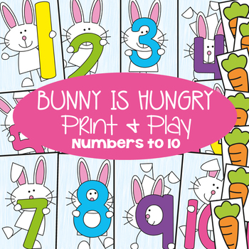 Numbers and Counting Math Game Pack - Bunny is Hungry