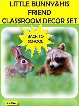 CLASSROOM DECOR SET UP: RABBIT/BUNNY&RACCOON THEME