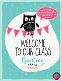 """BUNTING """"Welcome to Our Class"""" Dotty Design by Think BIG"""