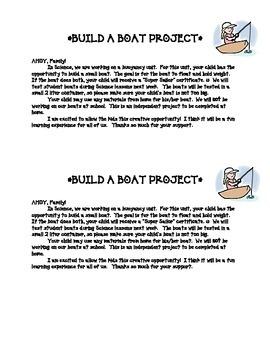 BUOYANCY Build-a-Boat Project