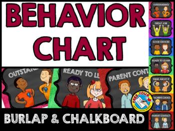 BURLAP AND CHALKBOARD CLASSROOM DECOR (BEHAVIOR CLIP CHART CHALKBOARD AND BURLAP