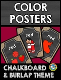 BURLAP AND CHALKBOARD CLASSROOM DECOR (COLOR POSTERS) CHAL