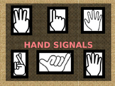 BURLAP AND CORAL THEME HAND SIGNALS
