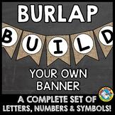 BURLAP BULLETIN BOARD LETTERS, NUMBERS, SYMBOLS (BURLAP CL