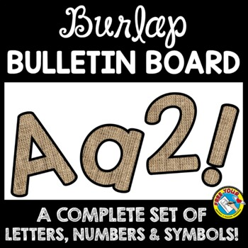 BURLAP CLASSROOM DECOR BULLETIN BOARD LETTERS PRINTABLE, NUMBERS, ETC