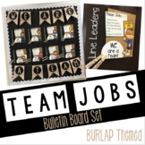 BURLAP Classroom Team Jobs Bulletin Board: Editable Tasks and Bunting