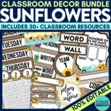 BURLAP THEME Classroom Decor - EDITABLE Clutter-Free Class