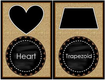 BURLAP Style SHAPE Cards (Large Size)