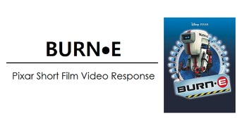 FREE - BURN-E Viewing Worksheet (PIXAR Short Film Video Response)