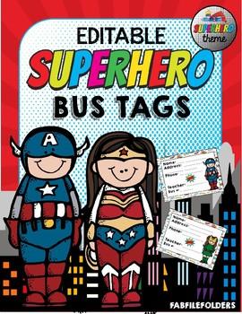 SUPERHERO BUS TAGS