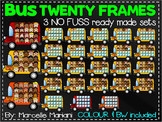 BUS TEN FRAMES- TRANSPORTATION TEN FRAMES CLIP ART