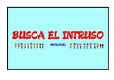 BUSCA EL INTRUSO. PROFESIONES