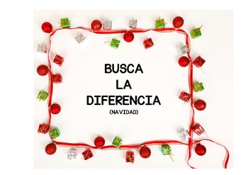 BUSCA LA DIFERENCIA.COMPARE AND CONTRAST