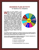 """BUSINESS PLAN ACTIVITY for Teachers of ALL Disciplines"""
