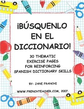 BUSQUENLO EN EL DICCIONARIO! - Spanish dictionary skills unit