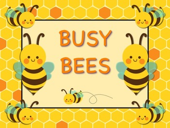 BUSY BEE Theme Job Chart Cards / Signs - Great for Classroom Management!