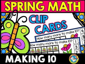SPRING ACTIVITIES KINDERGARTEN (BUTTERFLIES MATH CENTER) MAKING 10 GAME
