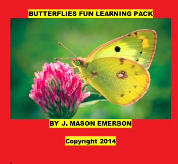 BUTTERFLIES FUN LEARNING PACK (SALE, COMMON CORE, 108 images)