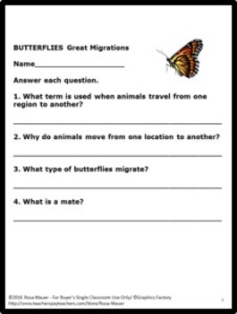 BUTTERFLIES Great Migrations  and Monarchs Nature's Children