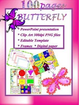Butterflies - Bundle - PowerPoint presentation -  Clipart