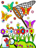 BUTTERFLY CLIP ART * COLOR AND BLACK AND WHITE