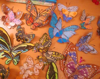BUTTERFLY Diorama & Bulletin Board Kit for Writing, Math & Science Centers