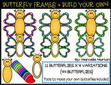 BUTTERFLY FRAMES & MAKE YOUR OWN BUTTERFLIES CLIP ART GRAPHICS- 207 IMAGES