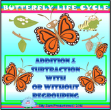 BUTTERFLY LIFE CYCLE Addition & Subtraction With & Without REGROUPING
