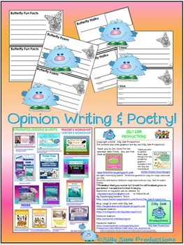BUTTERFLY LIFE CYCLE Booklet & Writing Activity! Black-line Version