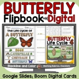 BUTTERFLY LIFE CYCLE DIGITAL RESEARCH REPORT TEMPLATES: GOOGLE SLIDES: BOOM CARD