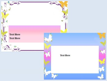 Butterfly Editable PowerPoint