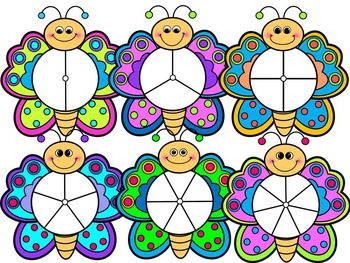BUTTERFLY SPINNERS-BUTTERFLY CLIP ART- Personal & commercial use (24 images)